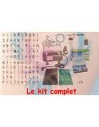 Kit pour tatouage éphémère avec compresseur, aérographe, air gun, encre cosmétique pour l'airbrush et des pochoirs réutilisables