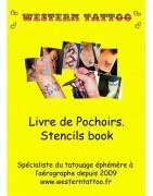 Pochoirs réutilisables en PVC pour le tatouage éphémère
